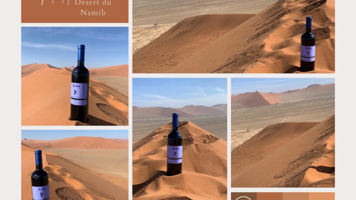 Le Merlot dans le Désert du Namib